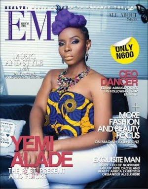 Yemi Alade Covers Exquisite Magazine Music Meets Beauty Issue [See Photos]